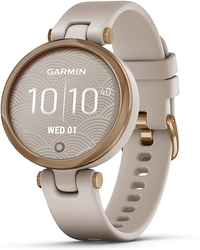 Garmin Lily édition sport - Light Sand Rose Gold avec bracelet beige